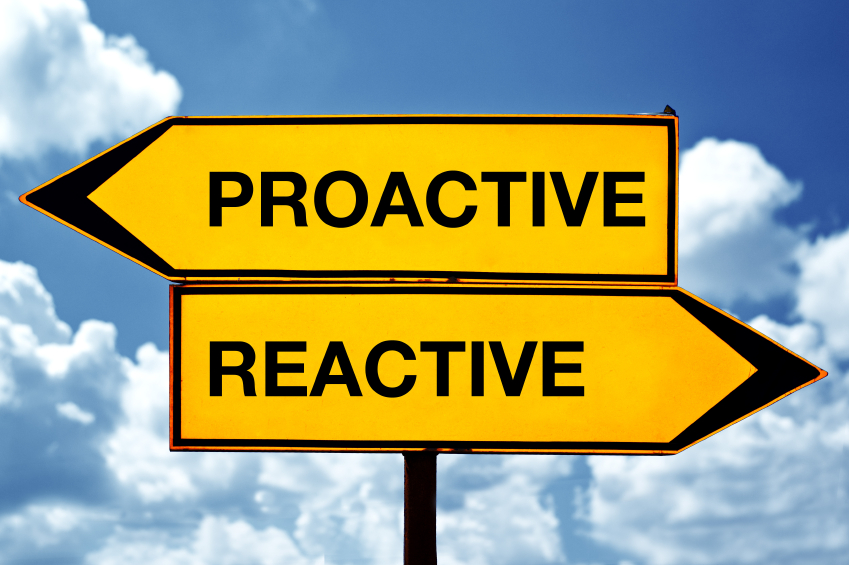 being proactive